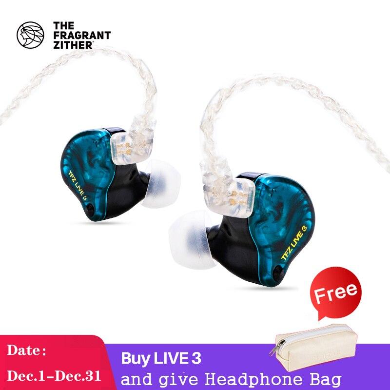TFZ LIVE 3 Hifi In Ear Earphone Monitor Running Sport earphones  2 Magnetic+1.0Tesla's Unit HIFI Bass earphones with microphone